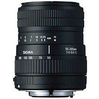 Sigma 55-200/4-5,6 DC digital Objektiv EF(-S) für Canon