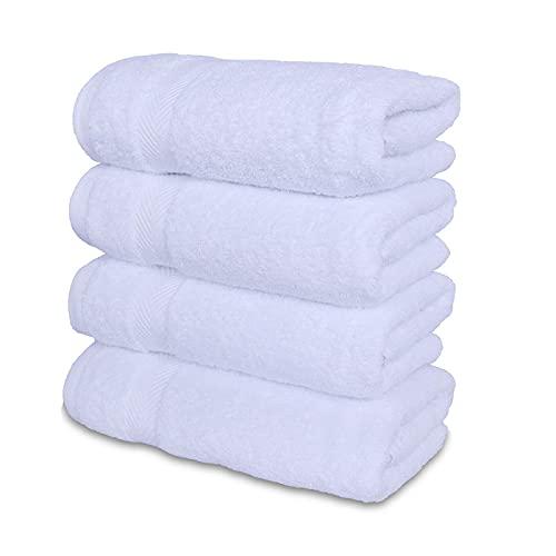 Toalla de papel 40*70 traje premium adecuado para baño SPA, alta tasa de absorción de agua, suave y no se decolora cuatro toallas 41x70cm blanco