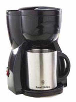 RussellHobbsパーソナルコーヒーメーカーダブルステンレスマグつき10973JP