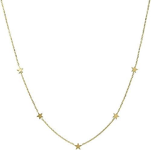 14  Gelb Gold Halskette 46cm