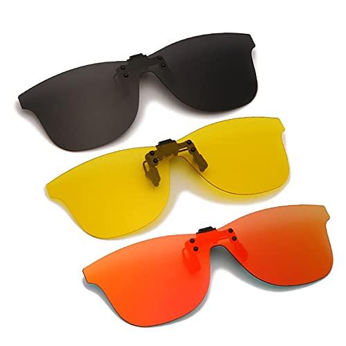 ffniwo KKKKKK Pinza hacia Arriba Clip en Gafas de Sol Espejo Grandes Clips polarizados Que conducen Gafas (Color : 5 Photochromic)