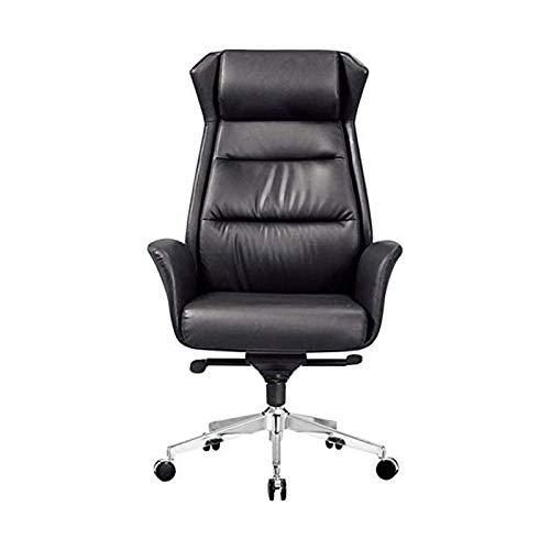 HMBB Sillas de escritorio, silla de oficina ajustable ergonómica ejecutiva oficina casa silla de escritorio durable de cuero de la PU silla de ordenador