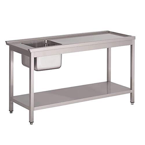 Table de prélavage gauche pour lave vaisselle -