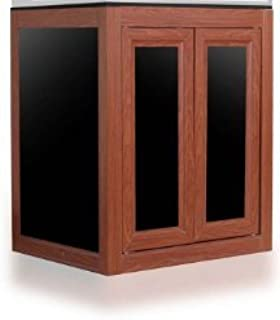 Innovative Marine Nuvo Fusion Lagoon 50 AIO (Aluminum Profile Series) Gallon APS Aquarium Stand - Wood Finish