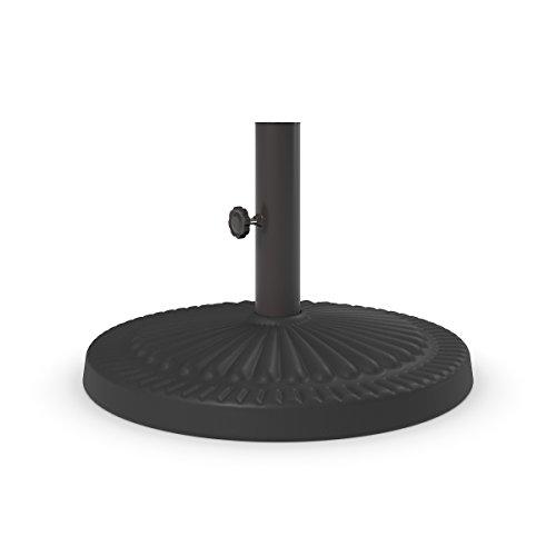 profesional ranking Diseño exclusivo Ashley-Base de paraguas para accesorios de exterior-Marrón oscuro elección