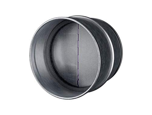 Draft Blocker - Backdraft Damper Duct - Draft Stopper - Backflow Preventer - Inline Fan Vent - Vent Deflector (6'' Inch)