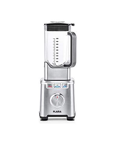 Flama Batidora de Vaso Pro Inox, 2000W, 32000 RPM, 6 Láminas de Alto Rendimiento, Vaso de Tritan, Capacidad de 2L, Función Pulse, Pica Hielo y Batidos, Sin BPA, Regulación de Velocidad Continua