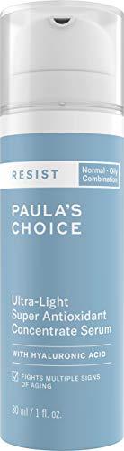Paula's Choice Resist Anti Aging Ultra Light Antioxidant Serum - Anti Falten Serum mit Hyaluronsäure - Reduziert Unreinheiten & Poren - mit Niacinamid & Vitamin C - Mischhaut bis Fettige Haut - 30 ml