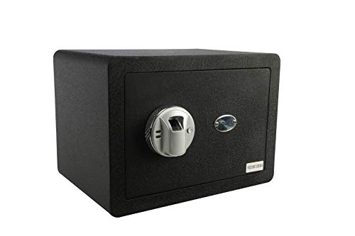 GOLVAL FS25 Home Steel Security Safe Box, Biometric Fingerprint Quick-Access Safe, Lock Box Cabinets, Solid Steel Safe Strongbox for Money, Jewelry, Cash Boxes