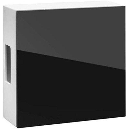 Grothe twee-klank gong - klankplaten van bel staal hoogglanzend oppervlak - Transformer / 9V blokbatterij - zwart