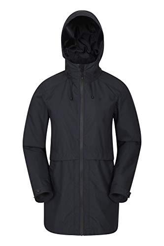 Mountain Warehouse Rain Drops Chaqueta Larga para Mujer - Chubasquero Impermeable, Costuras Selladas, Transpirable, Ligero - para Viajes, Acampar y Caminar