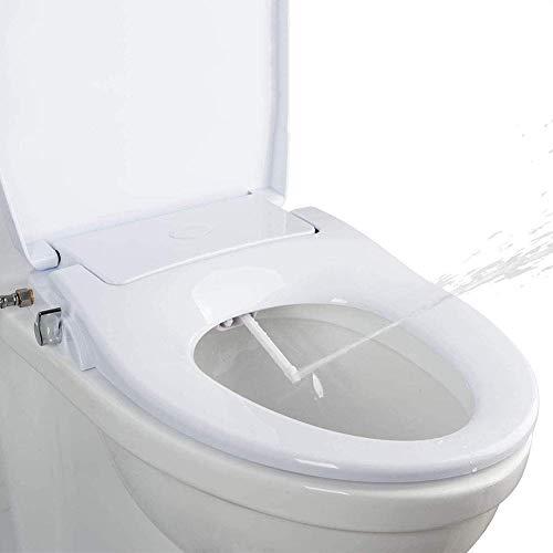 Bidé No Eléctrico Boquillas De Lavado Doble Autolimpiantes Cubierta De Asiento De Inodoro Alargada Manual Presión De Agua Ajustable Fácil De Instalar
