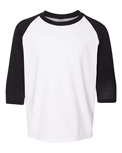Gildan Girl's Heavy Cotton 3/4 Raglan Tee Shirt