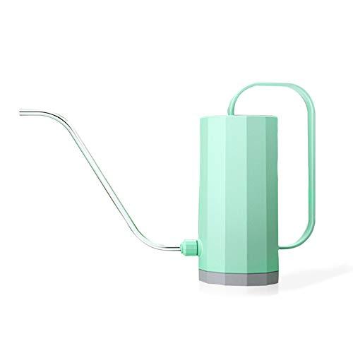 SPDYCESS Regadera plástica 1,2 litros con Cuello Largo Boca Larga - Pequeña Regadera para Casa Plantar Bonsai Plantas del Cuarto de Interior