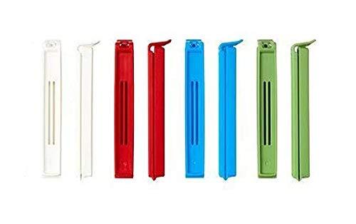 Pack of 10pcs Colorful Plastic BEVARA Sealing Bags Clip