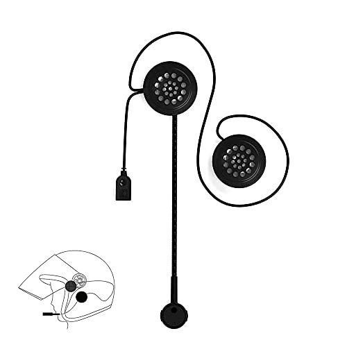 OBEST Casco de la Motocicleta Auriculares, Bluetooth 5.0 con micrófono Manos Libres para Motocicleta, Bicicleta de esquí, Control de Llamada de música
