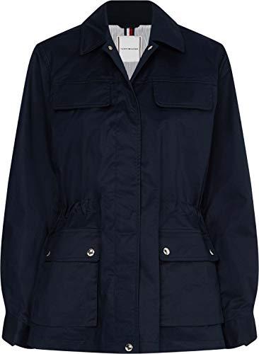 Tommy Hilfiger Damen Cotton Blend Field Jacket Jacke, Blau, L
