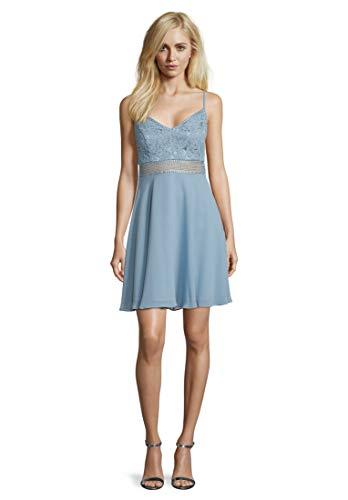 Vera Mont Damen 8117/4000 Kleid, Blau (Aqua Blue 8391), (Herstellergröße: 40)
