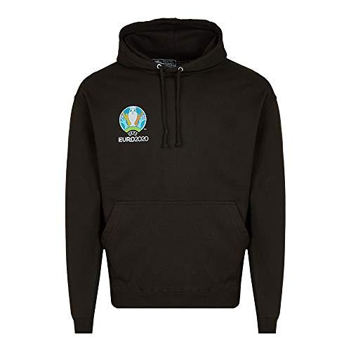 UEFA EURO 2020TM trui met capuchon Competition zwart