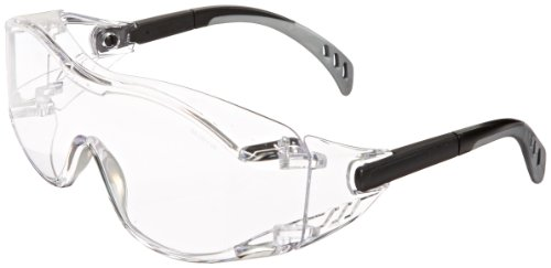 Gateway Safety 6980 Cover2 Safety Glasses Protective Eye Wear - Over-The-Glass (OTG), Clear Lens, Black...