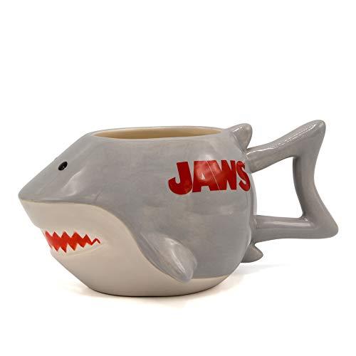 Product Image 1: Silver Buffalo JW13063D Jaws Shark Ceramic 3D Sculpted Mug, 20-ounces, Grey