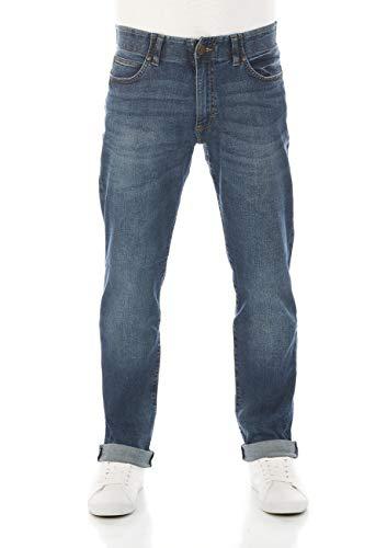 Lee Herren Jeans Extreme Motion - Straight Fit - Blau - Maddox W29-W48 98% Baumwolle Stretch, Größe:31W / 32L, Farbvariante:Maddox (PU)