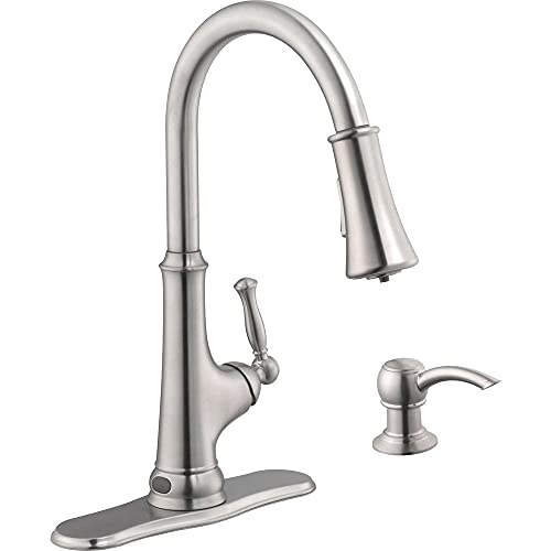 Glacier Bay Touchless Single-Handle Pull-Down Sprayer Kitchen Faucet with LED Light