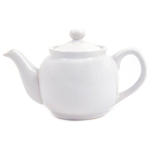 White Classic 2 Cup Ceramic Teapot