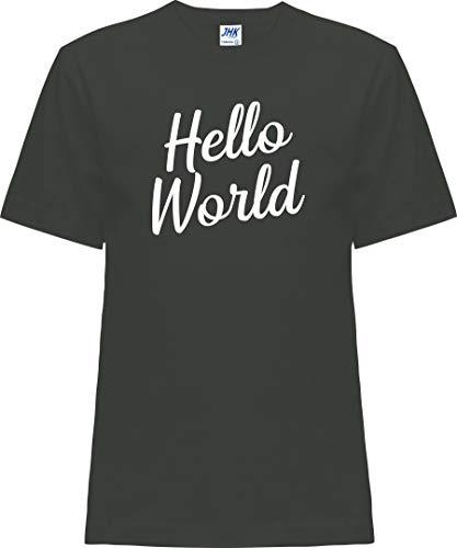 Kleckerliese Nicki T-shirt à manches courtes pour bébé et fille Motif Hello World - Noir - 0 ans