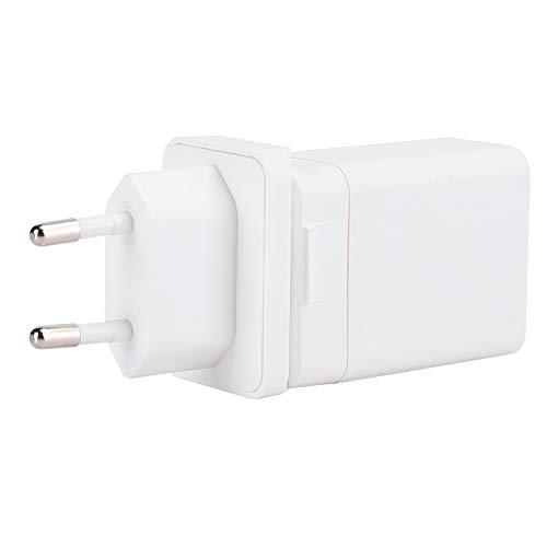Cargador de teléfono móvil, Cargador de Pared de teléfono Inteligente con Puerto USB Dual portátil de 18 W, Cargador de Pared Adaptador de Carga rápida para iOS 100‑240 V(EU)