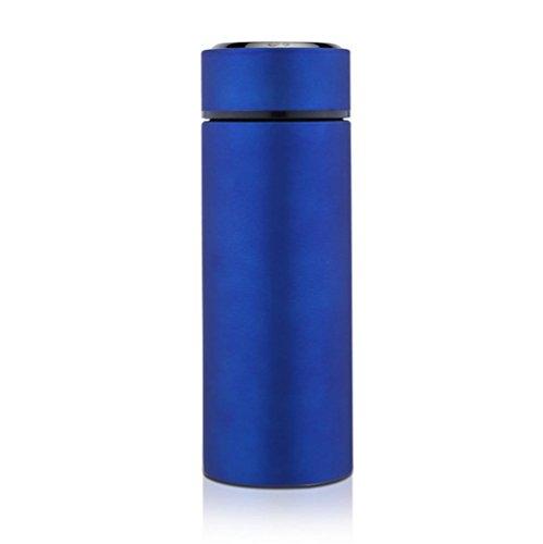 Z&HX sportsTasse Isolante en Acier Inoxydable Double Aspirateur Bureau Voyage Ext¨¦Rieur Portable, Blue, 450Ml