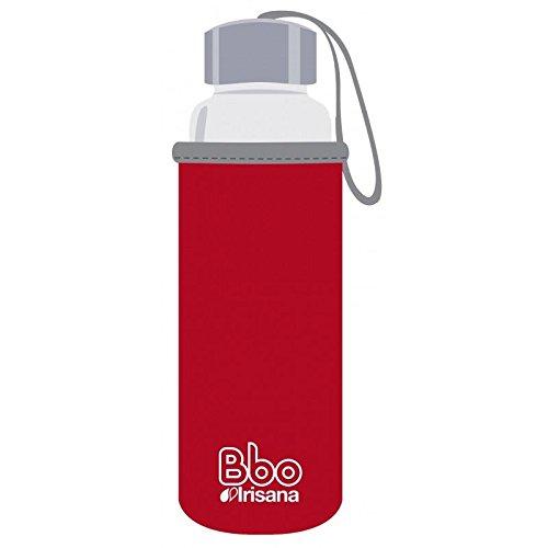 Irisana Botella Reutilizable de borosilicato de 500 ML, con Funda de Neopreno. Bbo5 (Rojo)