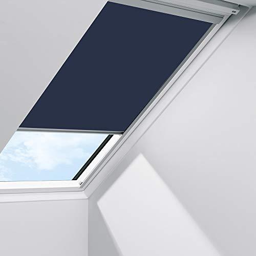 Orignal VELUX Sichtschutzrollo RFL 104 9050S / Bedienart : Manuell / Farbe : Uni Blau / Fenstergröße : 104 / Fenstertypen : GGL, GPL, GHL, GTL, GXL _22934