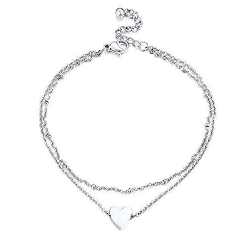 PROSTEEL Women Ankle Bracelet Chain Stainless Steel
