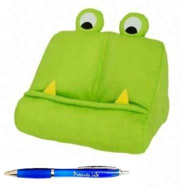 iPad Book Tablet Holder Stand for kids, Soft Plush Bookholder eReader Mookmonster Green