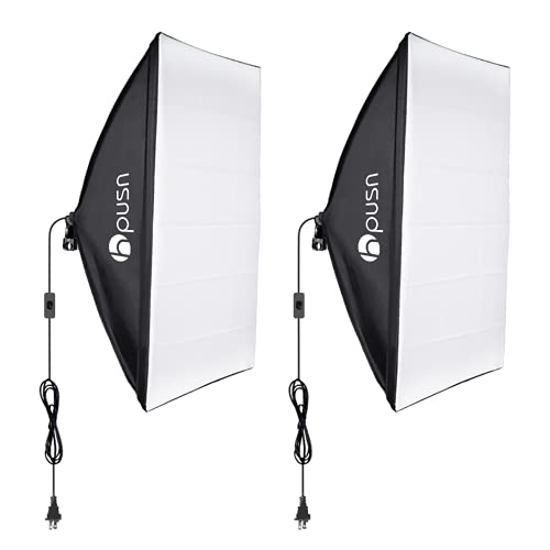 Hpusn softbox lighting kit professional studio photography equipment for portrait product fashion photography (bulb and light stand not included)