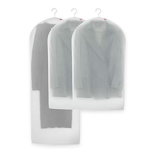 Rayen - Funda de ropa para armario. Pack de 3 bolsas translúcidas para guardar ropa. Protectores de ropa antipolvo. 60 x 150 cm y 60 x 100 cm. Translúcido