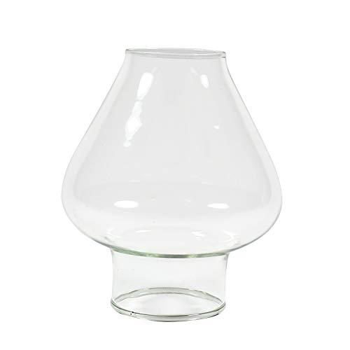 Delite Glaszylinder TULPE transparent, unterer Aussendurchmesser 30 mm, Höhe 68 mm, Bauchdurchmesser 60 mm, für Öllampe Elbe 1 und andere Petroleumlampen