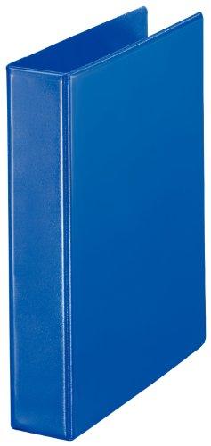 Esselte Group 49700 Essentials - Archivador para presentación (con anillas personalizable, A4, capacidad para 140 hojas, cartón recubierto de polipropileno), color azul, anillas 40mm