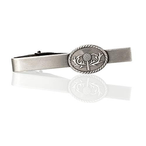 Eburya Scottish Thistle - Edle Krawattenklammer aus Schottland - schottische Distel