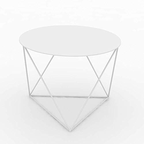 Carl Artbay Home&Selected furniture/modern metaal bijzettafel bijzettafel salontafel - Multi-use decoratie voor binnen en buiten -60 * 45cm (kleur: goud)