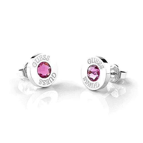Pendientes Guess Shiny Crystals rosa acero inoxidable quirúrgico chapados rodio UBE78100 [AC1153]