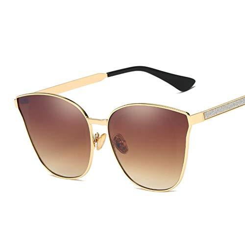 YIWU Brillen 2019 Die Neue Sonnenbrille Ms Fashion Trend Brille Europa Und Amerika Großer Rahmen Anti-UV-Diamant-Sonnenbrille Brillen & Zubehör (Color : 2)