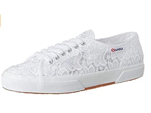 SUPERGA 2750-MACRAMEJ, Sneaker a Collo Basso, Bianco White 901, 34 EU