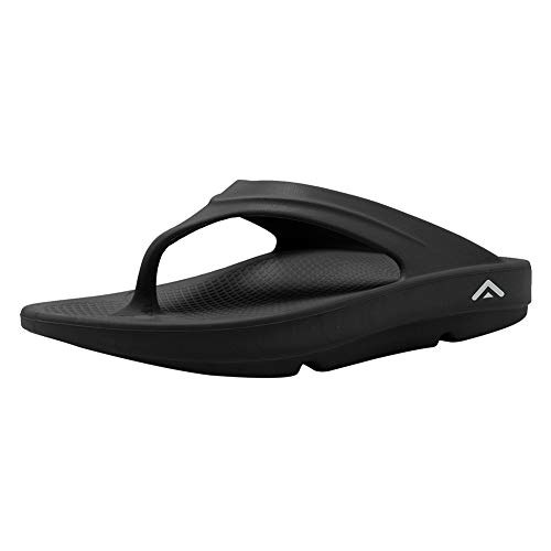 Unisex Flip Flops Sandals Arch Support and Bob Post Exercise Active Sport Recovery Thong Sandal Best Comfort ShoesU219DNDAU3-Black-40