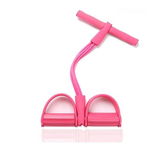 Cosleeply Pedal Resistance Band, 4-Röhren-Bodybuilding-Expander aus Naturlatex, elastisches Zugseil-Fitnessgerät, für Bauch-, Taillen-, Arm- und Yoga-Stretching-Schlankheitstraining