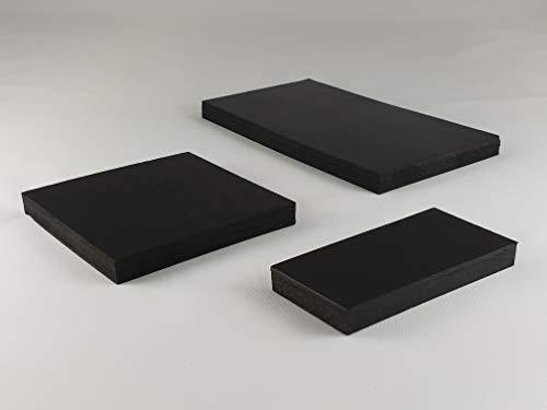Gummimatte Gummiplatte 150x200mm / 10mm Stärke Antivibrationsmatte für z.B. Waschmaschine/Hochleistungsmixer