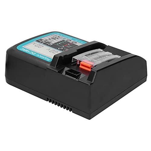Cargador Rápido de Batería de Litio, Cargador de Batería de 18V Reemplazo 3A LCD USB Compatible con Makita DC18RC + 2Pcs 5.0Ah Baterías 100‑240V(EU)