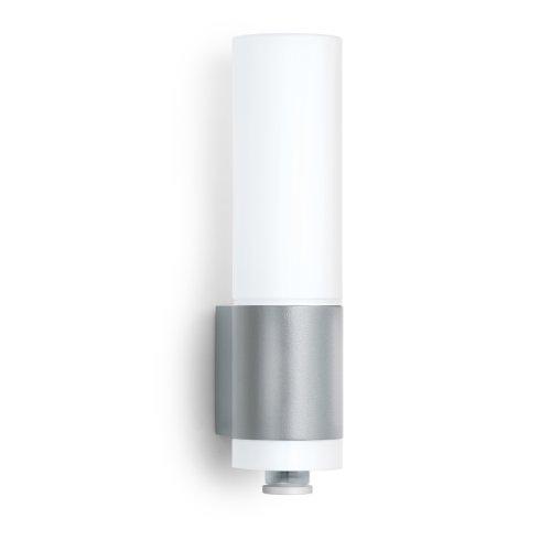 Steinel Außenleuchte L 265 LED silber, 8,5 W, Wandlampe, 360° Bewegungsmelder, 4 Programme, 8 m Reichweite, 674 Lumen