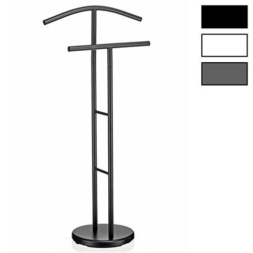 IDIMEX Herrendiener LAURENZ Garderobe Kleiderständer Garderobenständer Kleiderstange mit Hosenbügel, Metall schwarz